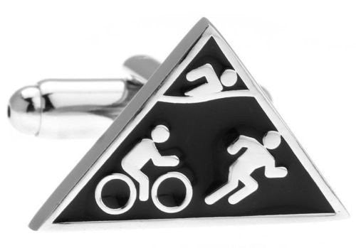Swim Bike Run Cufflinks
