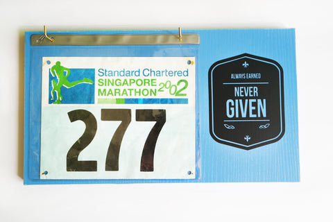 Race Bibs Holder - Always Earned, Never Given