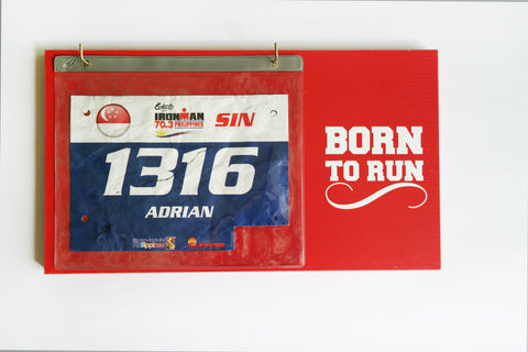 Race Bibs Holder - Born To Run