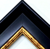 Medals & Bibs Classic Black & Gold Frame