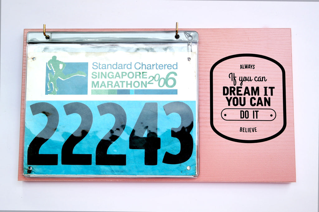 Race Bibs Holder - Always Believe
