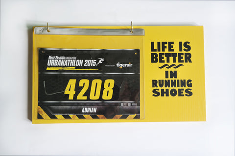 Race Bibs Holder - Life is Better in Running Shoes