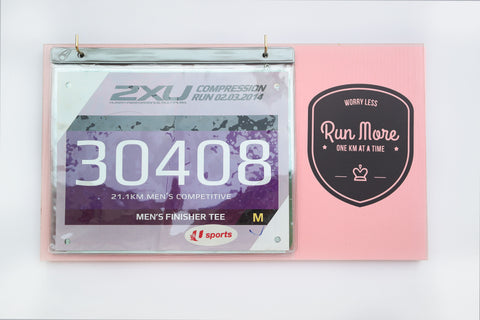 Race Bibs Holder - Run More, Worry Less