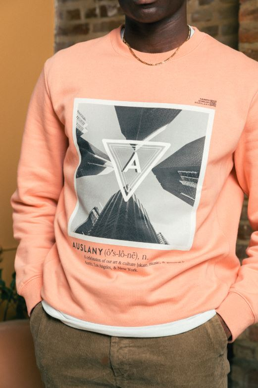 AUSLANY®️ CITY (Salmon) - Crew Neck Sweatshirt