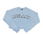 AUSLANY® Chenille Letter French Terry Crop