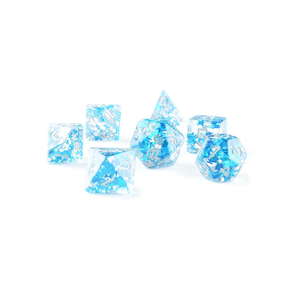 Resin Blue Butterfly DND Dice set