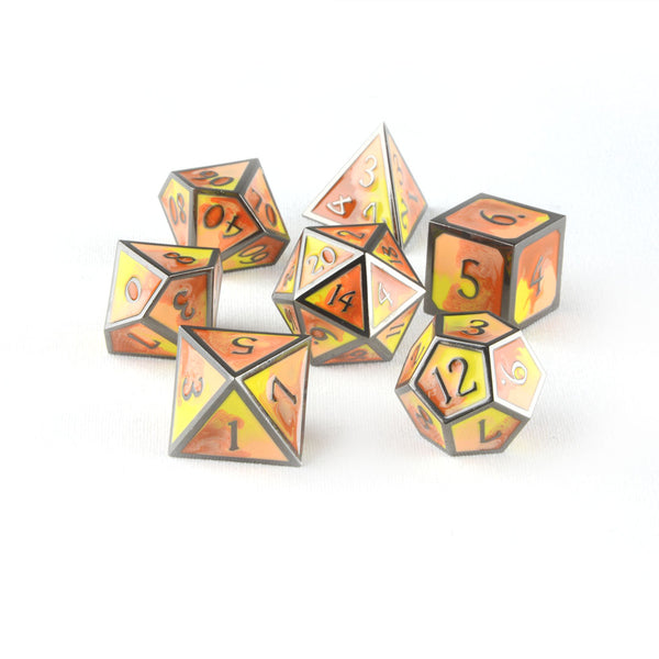 Burning Hands metal dnd dice