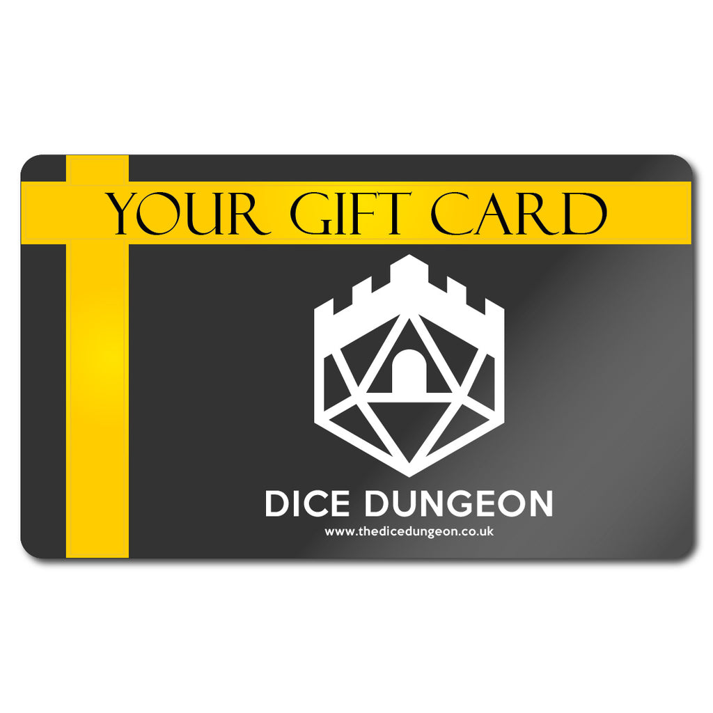 Dice Dungeon Gift Card of Wonder