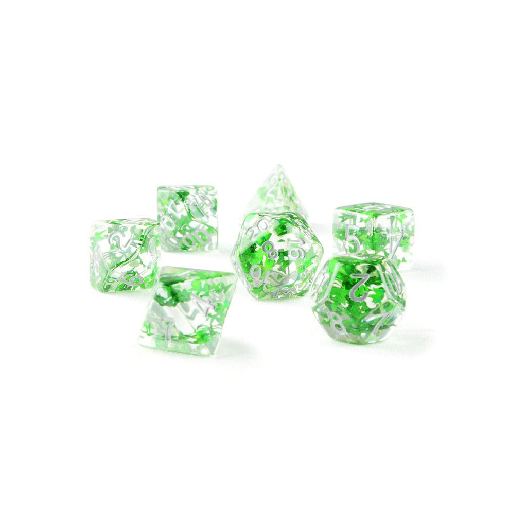 Green Butterfly Resin DND Dice