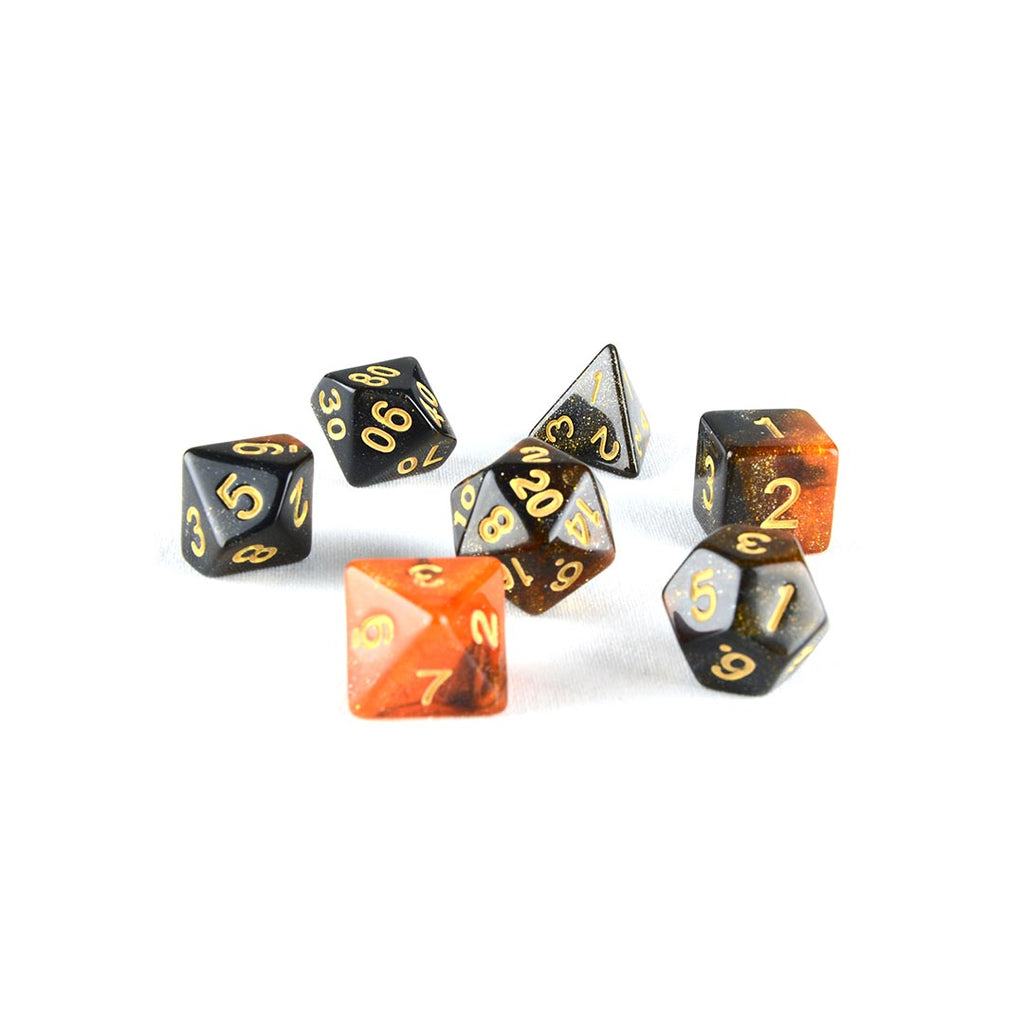 Hourglass Nebula dnd dice set