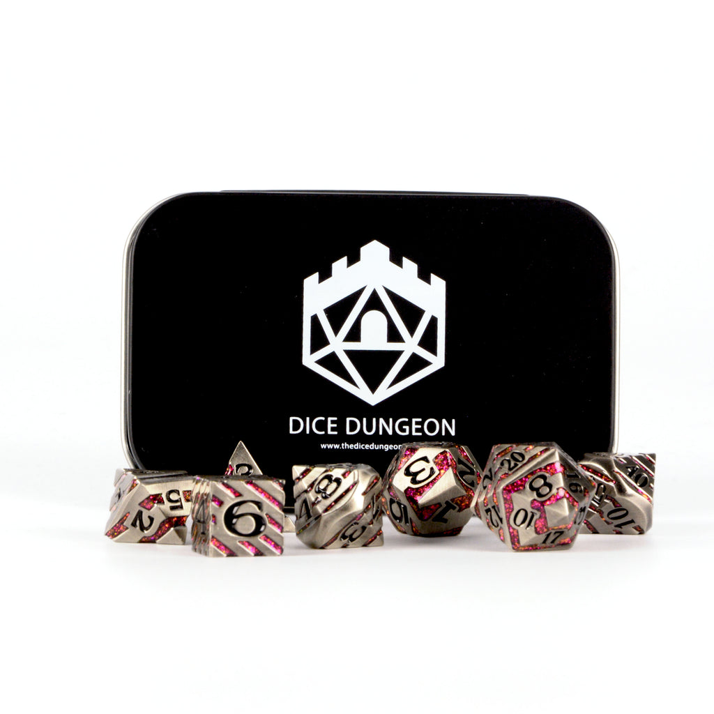 legendary ore bloodstone dnd dice with tin