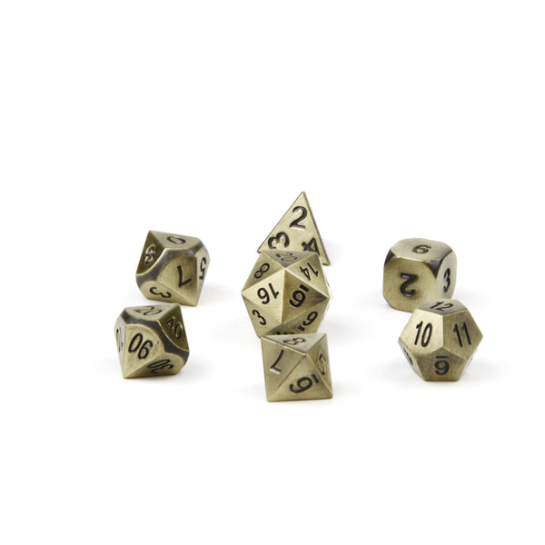 dnd dice tarnished nickel