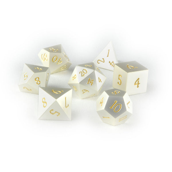 Noble Platinum metal dnd dice