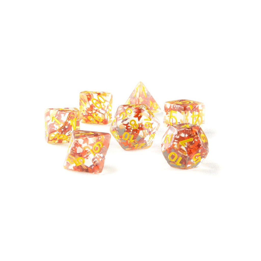 Red Butterfly Resin DND Dice