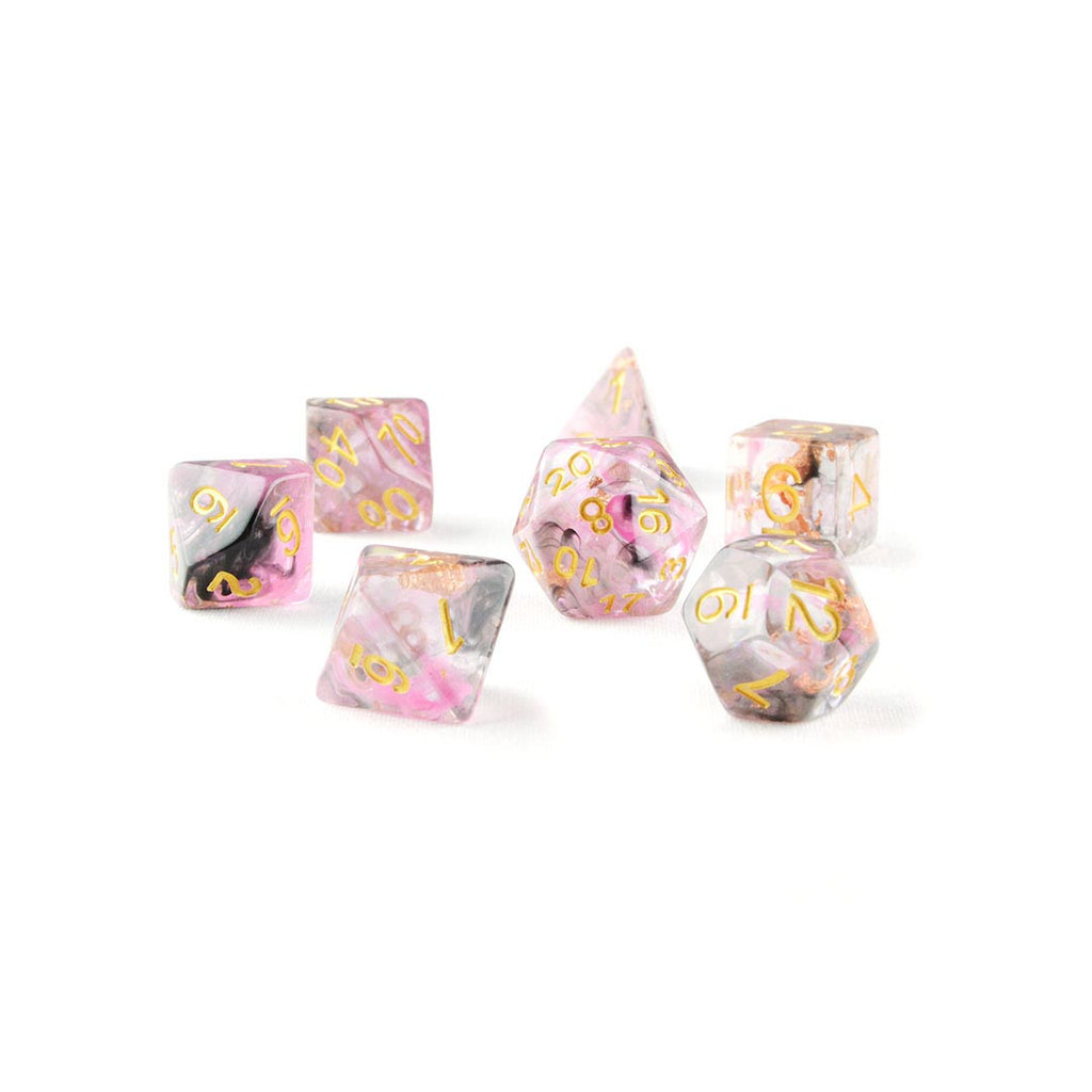 Pink Ink Resin DND Dice Set