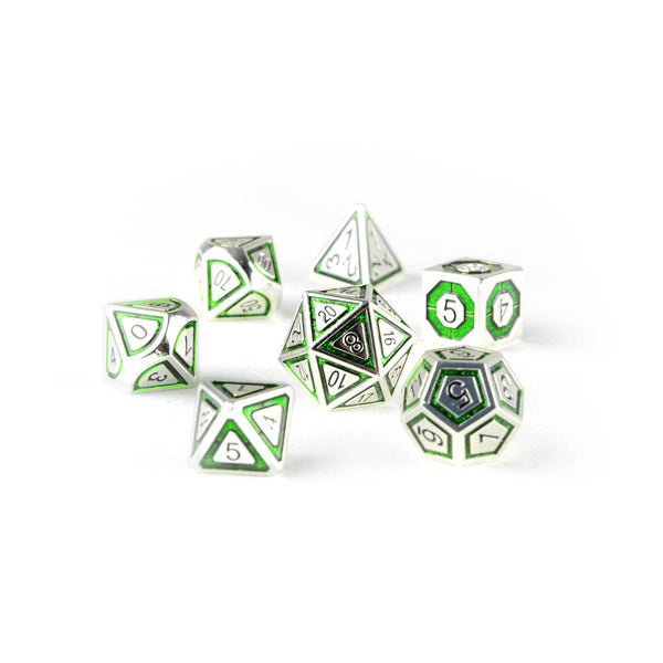 Gaius the Green metal dnd dice set