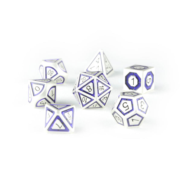 Nox The Shade purple metal dice dnd