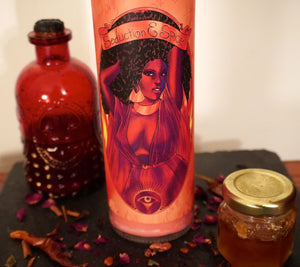 """Seduction And Spice"" Hand-Crafted Manifestation Candle"
