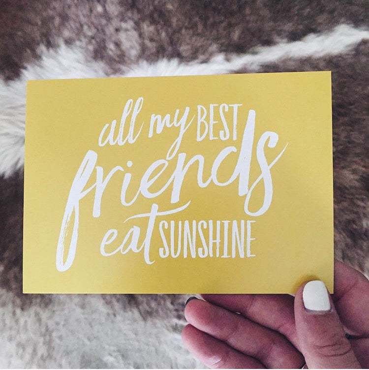 all my best friends eat sunshine