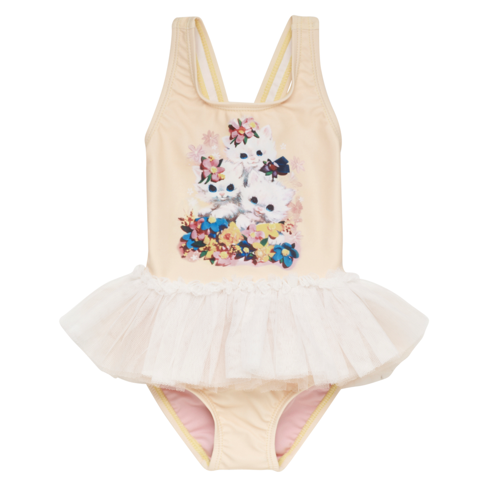 S18 Rock Your Kid Little Kittens Tulle One Piece