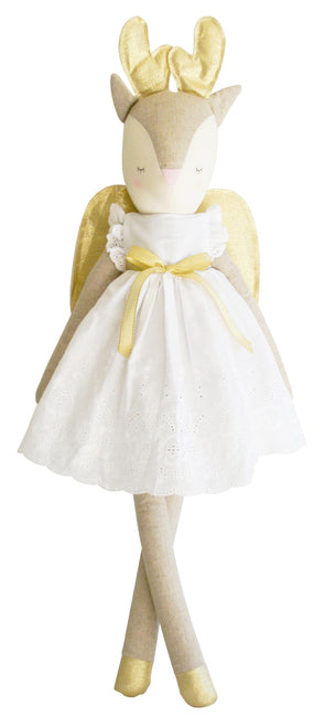 "Alimrose Baby Reindeer Angel 28"" Broderie and Gold"