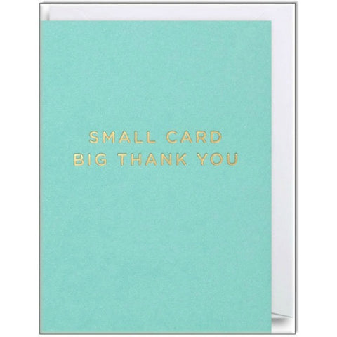 Big Thank You Mini Card - My Messy Room