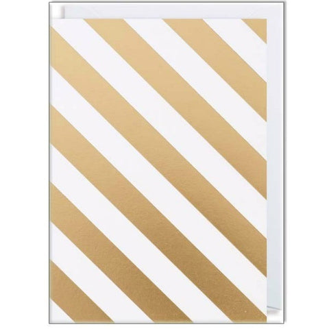 Gold Stripe Card Set (Pack of 10) - My Messy Room