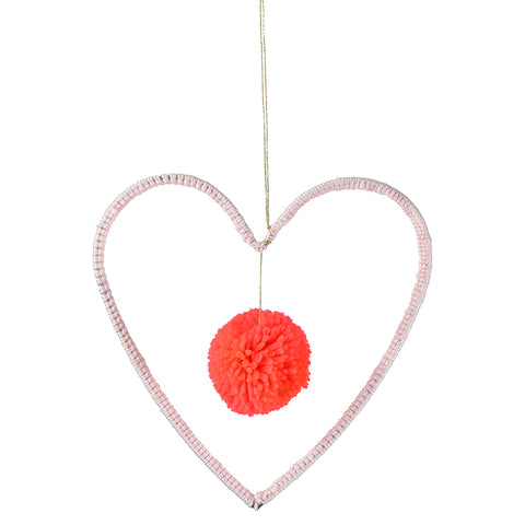Meri Meri Wire and Wool Deco Heart Decoration