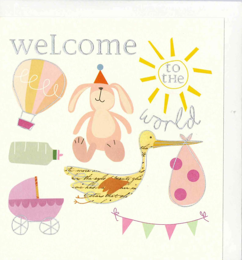 Caroline Gardner SKB015 Welcome to The World Card - My Messy Room