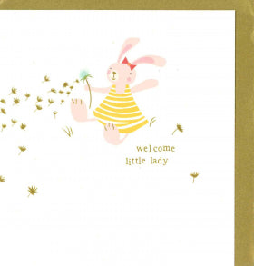 TOE004 Caroline Gardner Welcome Little Lady Card
