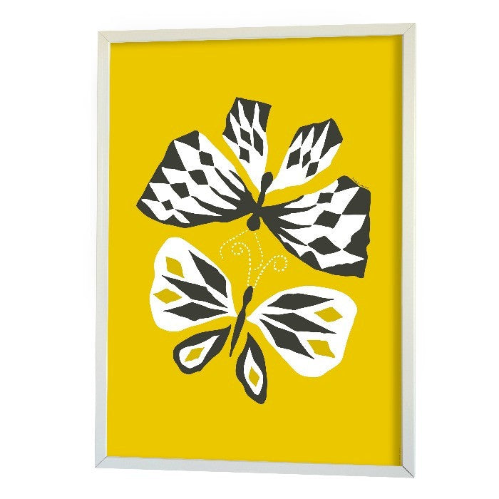 Littlephant Love Yellow Butterflies Poster - My Messy Room - 1