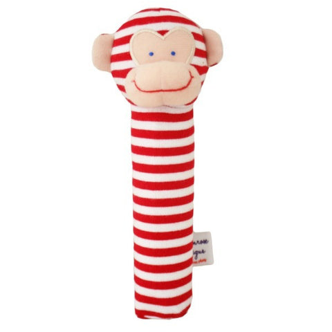 Alimrose Designs Monkey Squeaker - Red Stripe - My Messy Room