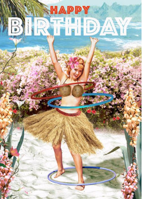 BC258 Lip International Bikini Birthday Card