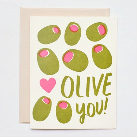 Hello Lucky Olive You Card - My Messy Room