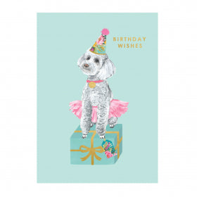 Louise Tiler Birthday Wishes Puppy Card FA014