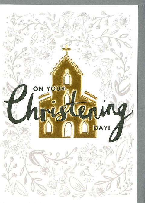 Louise Tiler Christening Day Card TW012