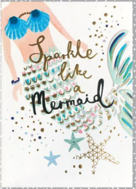 Louise Tiler TS003 Sparkle like a Mermaid Card