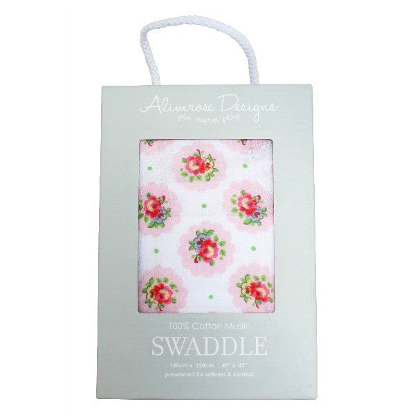 Alimrose Swaddle - Floral Medallion - My Messy Room - 1