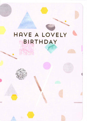 Oliver Bonas Lovely Birthday Card