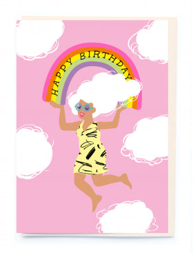 Noi BL002 Happy Birthday Rainbow Card