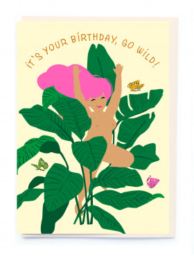 Noi BL005 Go Wild Birthday Card
