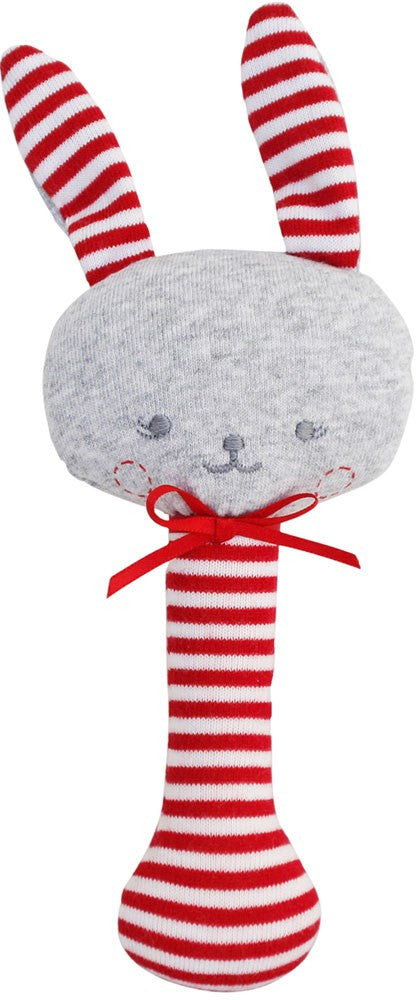 Alimrose Sonny Bunny Stick Rattle - Red