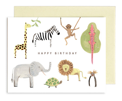 MED004 Rhys McArdle Birthday Zoo Card