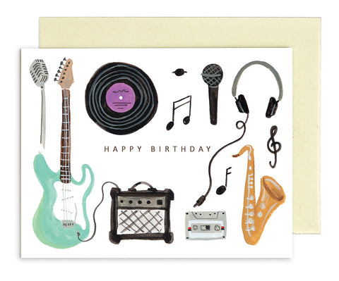 MED007 Rhys McArdle Birthday Music Card