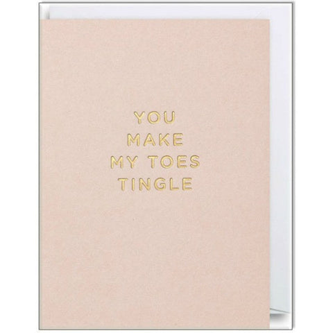 You Make My Toes Tingle Mini Card - My Messy Room