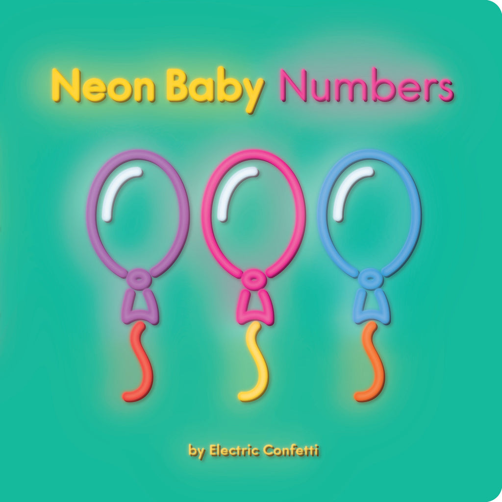 Neon Baby Numbers by Electric Confetti - My Messy Room