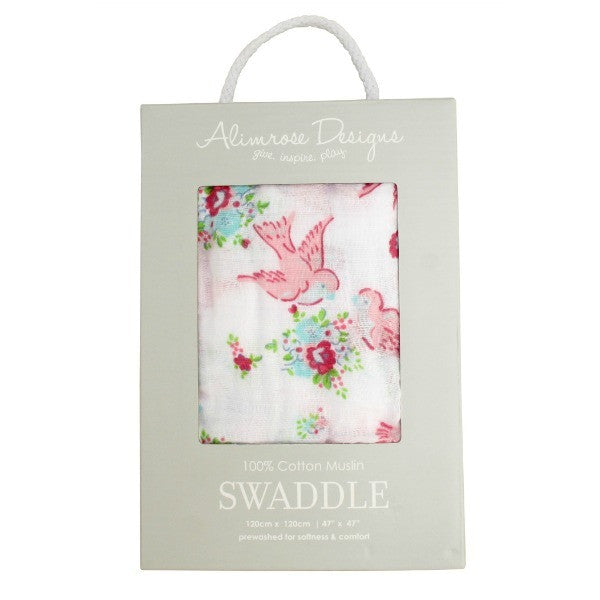 Alimrose Swaddle - Sweet Bird Floral - My Messy Room