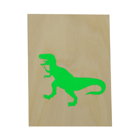Me and Amber Dinosaur Ply Artwork - Neon Green - My Messy Room - 1