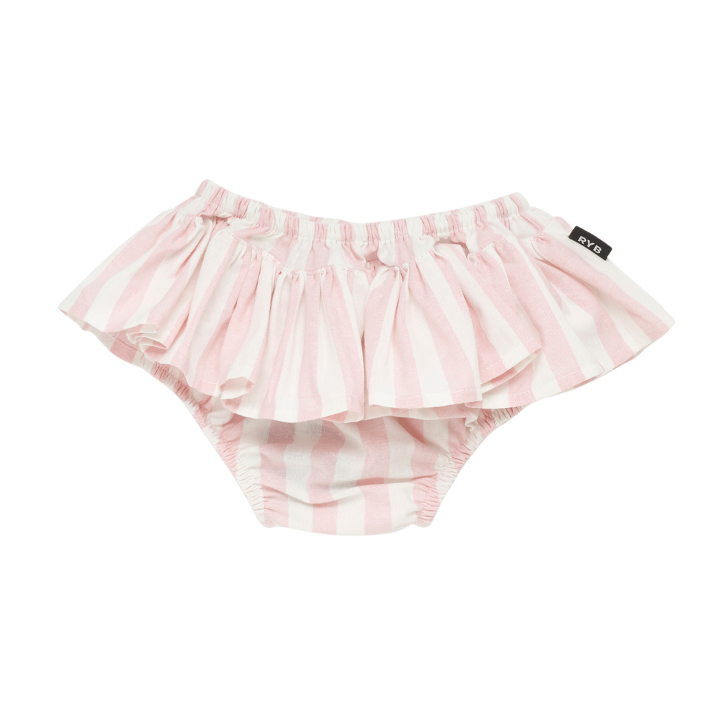 S18 Rock Your Baby Stripe Ruffle Pant - Light Pink