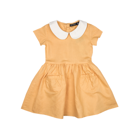 S17 Rock Your Kid Betsy Linen Dress - Mustard